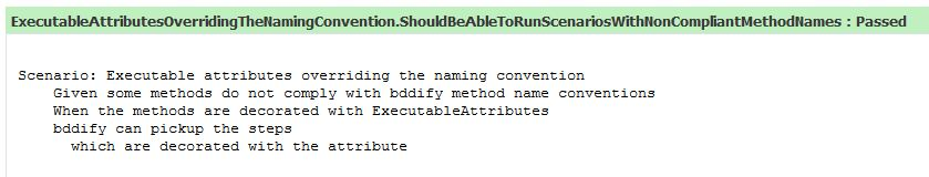 Executable attribute overriding the method name convention