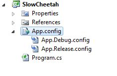 SlowCheetah transform files added
