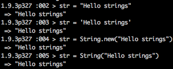 String in Ruby