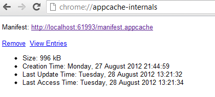 Chrome AppCache Internals